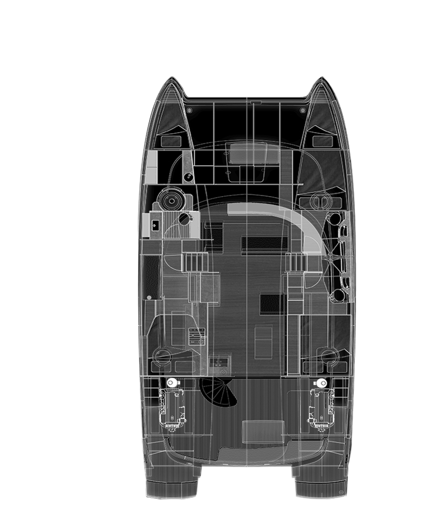 Plan de catamaran - Fountaine Pajot