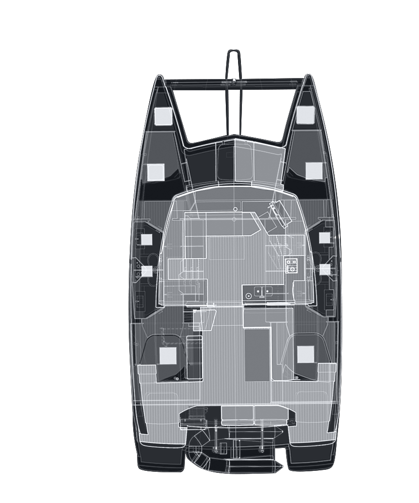 Plan de catamaran - Fountaine Pajot